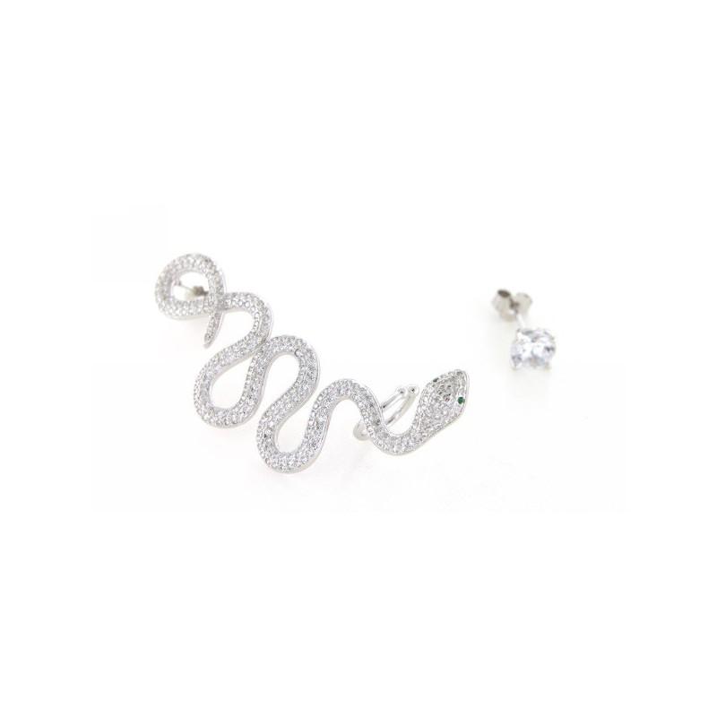 Orecchini in argento serpente cartilagine - Serpente collegare i punti ...