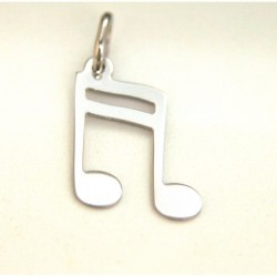 PENDENTE IN ARGENTO NOTA MUSICALE