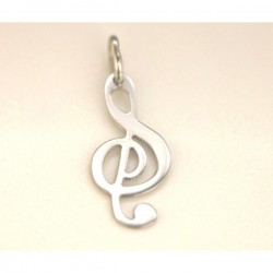 PENDENTE IN ARGENTO CHIAVE MUSICALE
