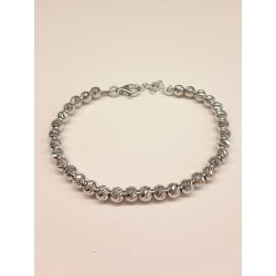 BRACCIALE IN ARGENTO CON SFERE DIAMANTATE DA 4MM